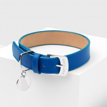 Collier cuir Roch Lola Bleu Roi